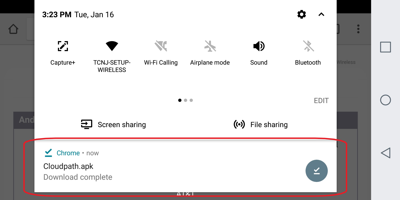 Nexus 7 Messages Menu